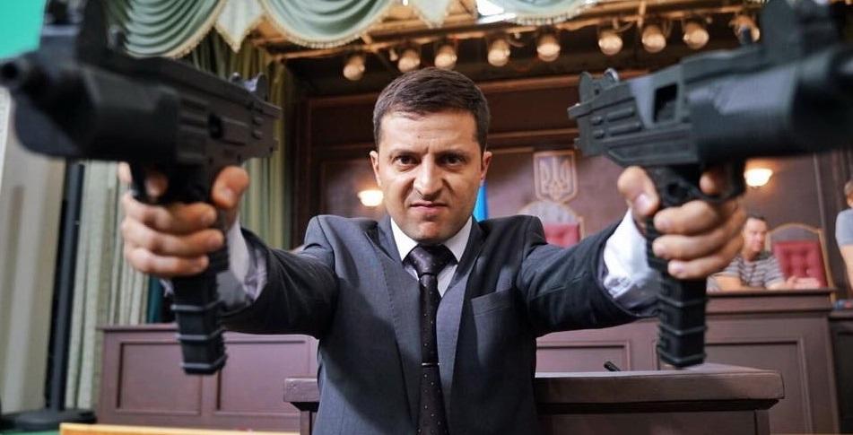 Ukrajinský herec Volodymyr Zelenskyj ide v šľapajách Ronalda Reagana